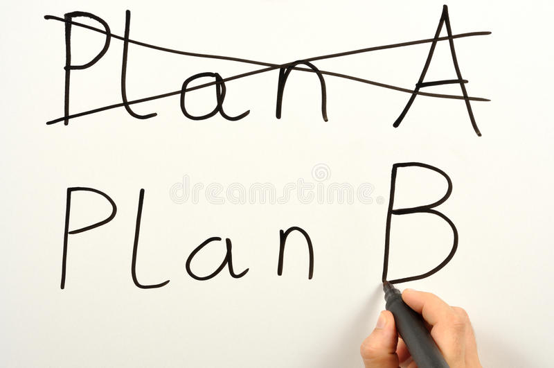 Download Plan B stock photo. Image of plan, writing, decision - 15109648