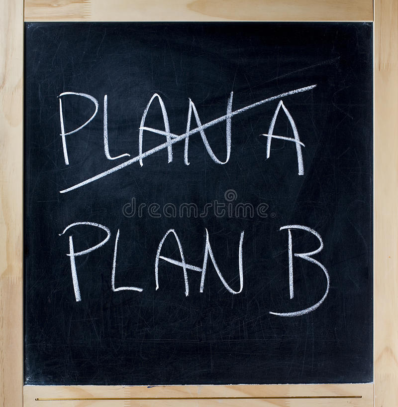 Plan B photographie stock