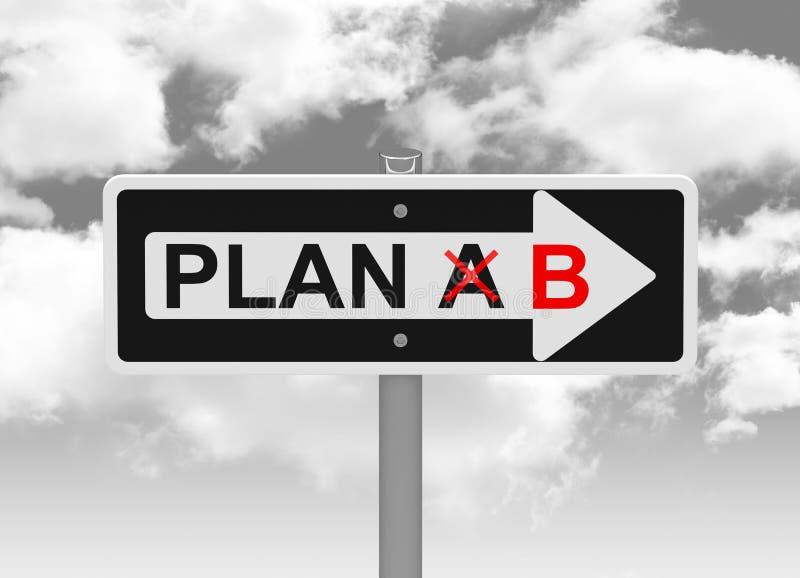 Plan B stock illustrationer