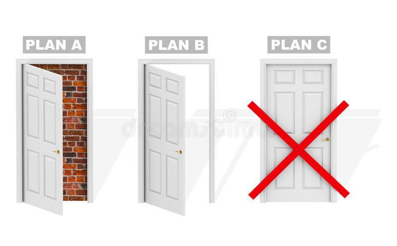 Plan B vektor illustrationer
