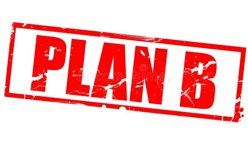 PLAN B i röd ram stock illustrationer