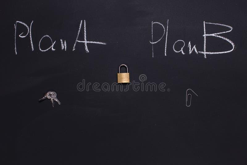 Plan B pour ouvrir la serrure de porte photographie stock libre de droits