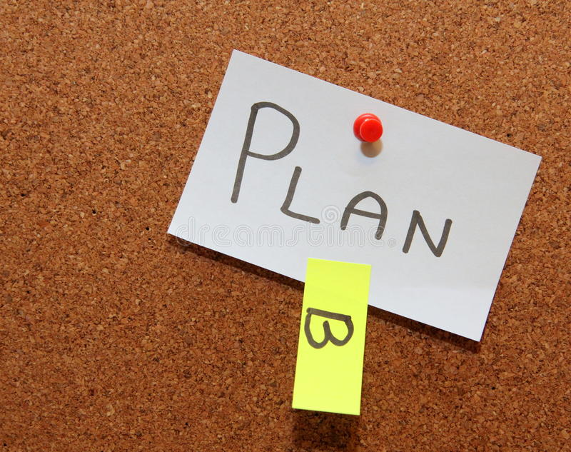 Plan B!. Sticky notes forming text - plan b royalty free stock photos