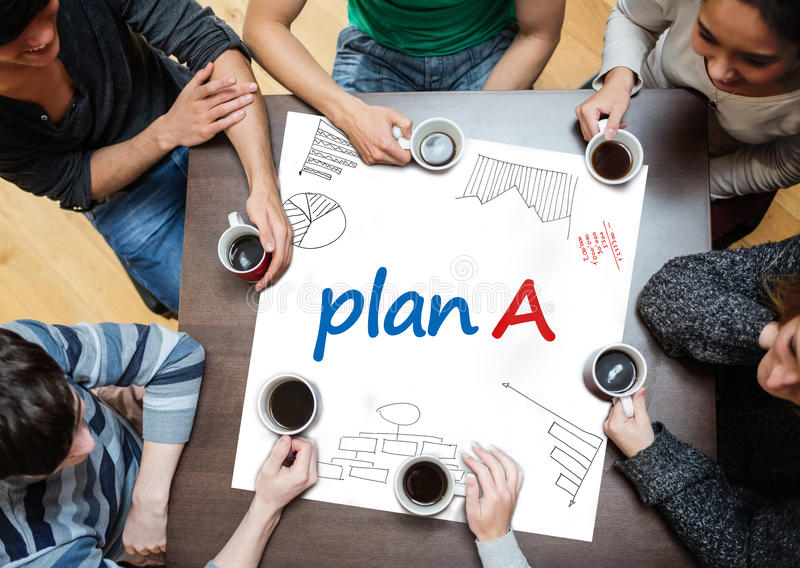 Download Plan B Written On A Poster With Drawings Of Charts Stock Photography - Image: 32509502