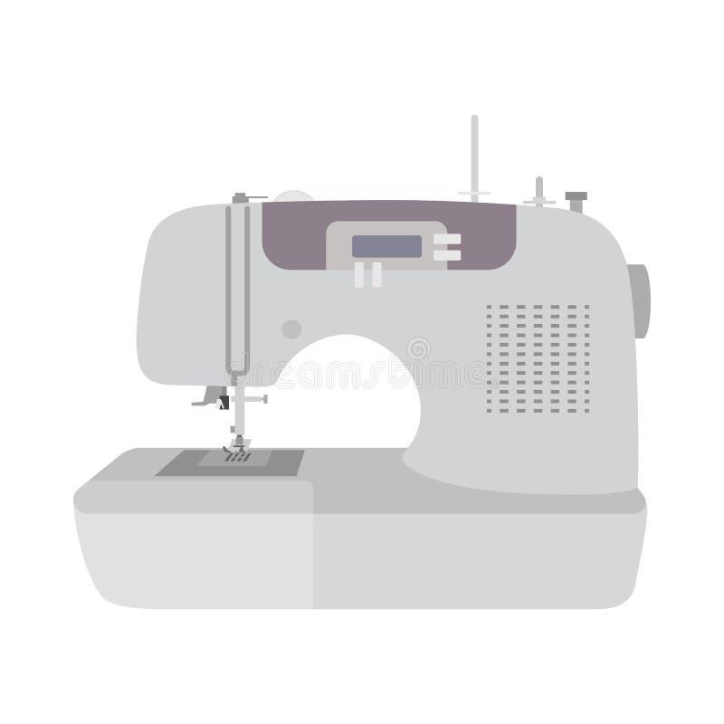Plan bakgrund för symaskinjonvit royaltyfri illustrationer