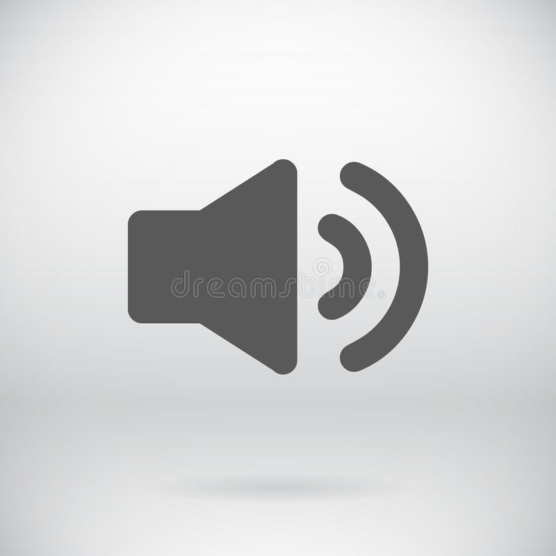 Plan bakgrund för symbol för ljud för högtalareteckenvektor royaltyfri illustrationer
