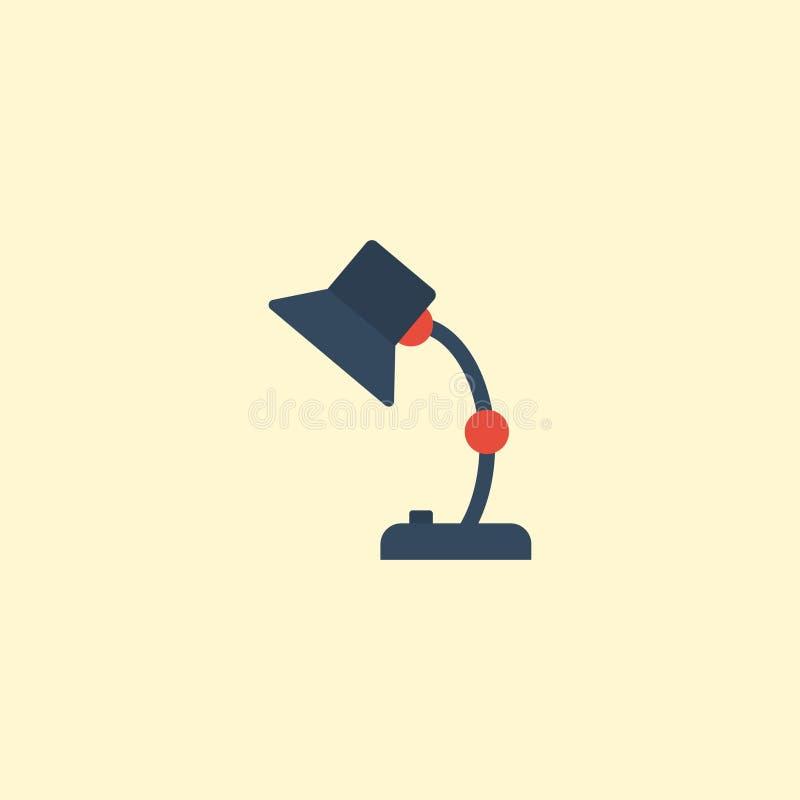 Plan beståndsdel för symbolstabelllampa Vektorillustration av plan symbolsilluminationsenhetsIsolated On Clean bakgrund Kan använ royaltyfri illustrationer