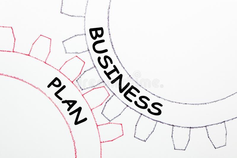Plan Biznesowy Na mechanizmu przekładnie fotografia stock
