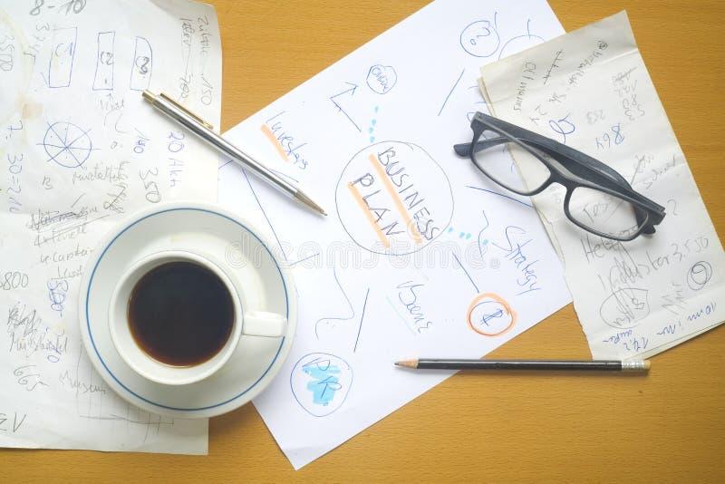 Plan biznesowy, skribble obrazy royalty free