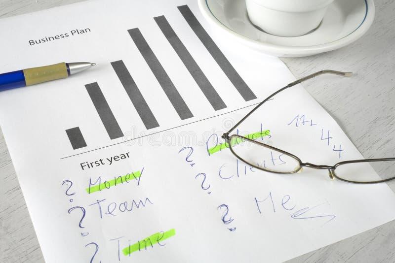 Plan biznesowy strategia, zdjęcie royalty free