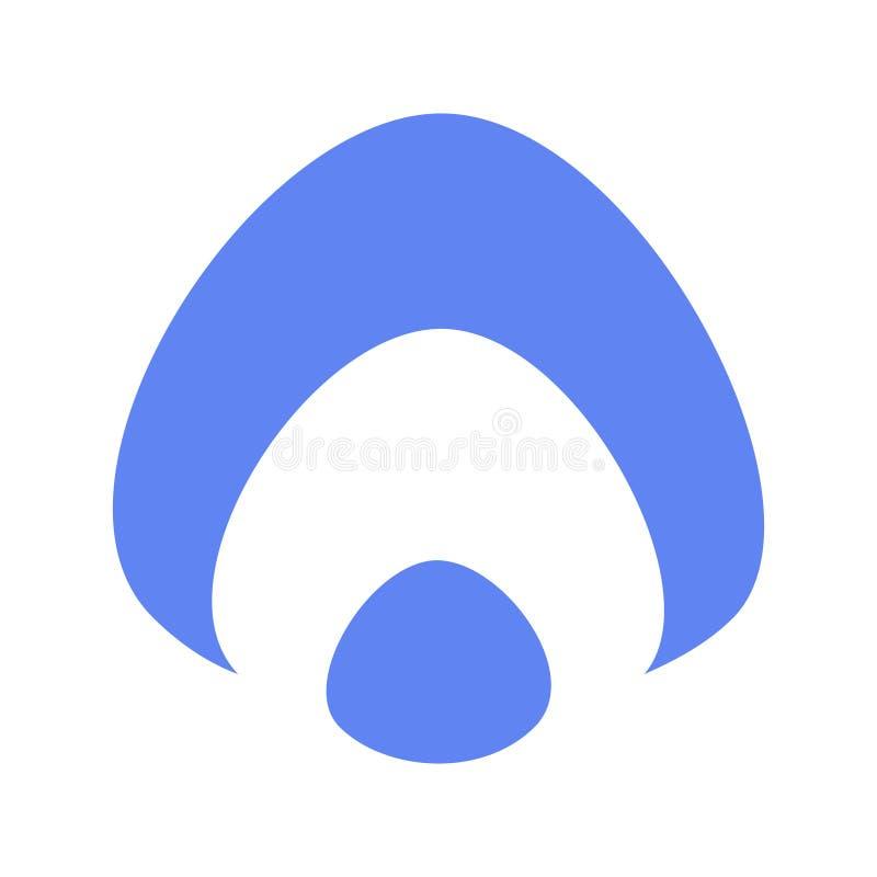 Plan blå vit logo för aurasymbolsryss stock illustrationer