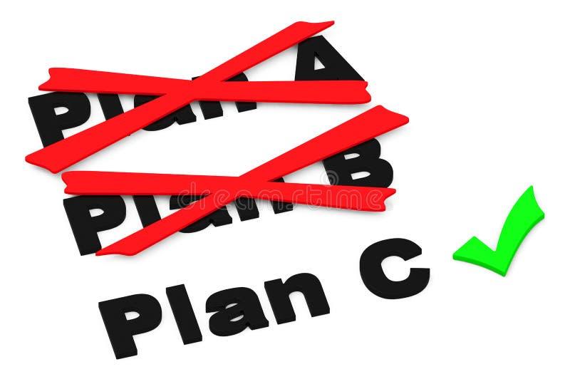 Plan c stock illustrationer