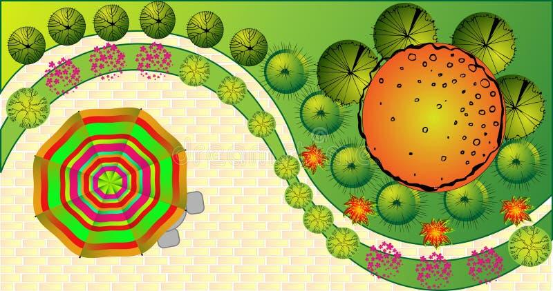 Plan coloré de paysage de vecteur illustration libre de droits