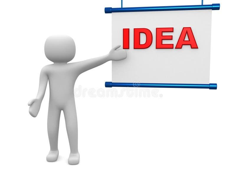Plan concept. Geïsoleerda op witte achtergrond stock foto