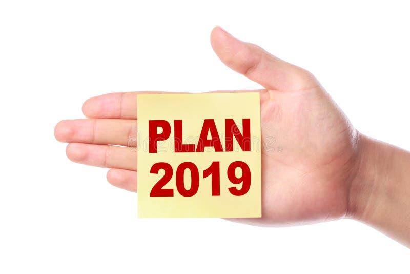 Plan 2019 Concept stock photos