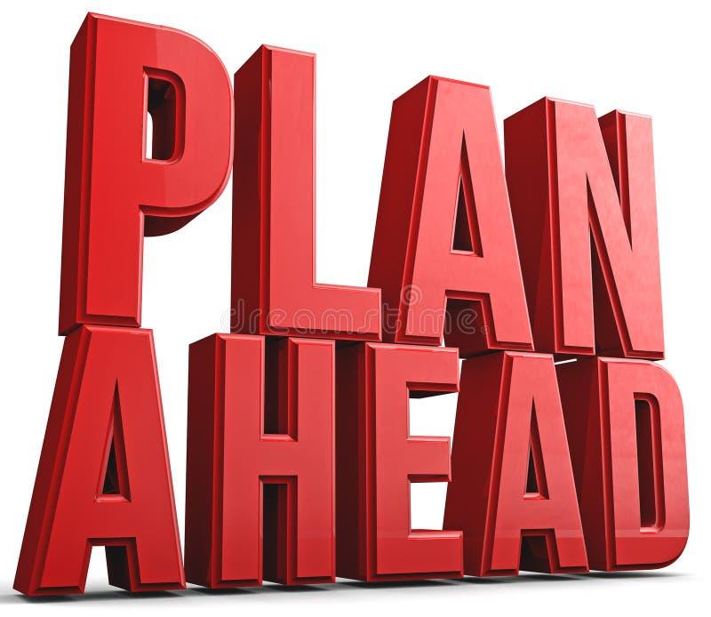 Plan a continuación stock de ilustración