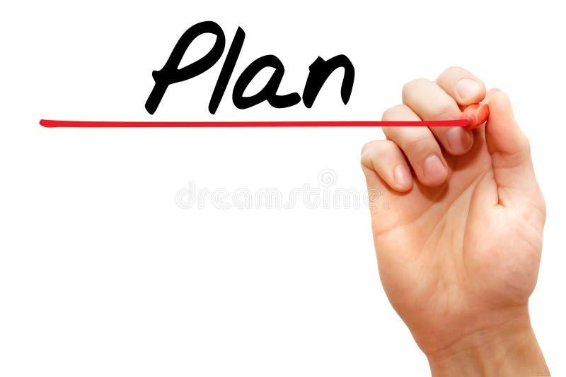 Plan d'écriture de main, concept d'affaires image stock