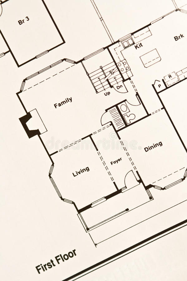 Plan d'étage photographie stock libre de droits