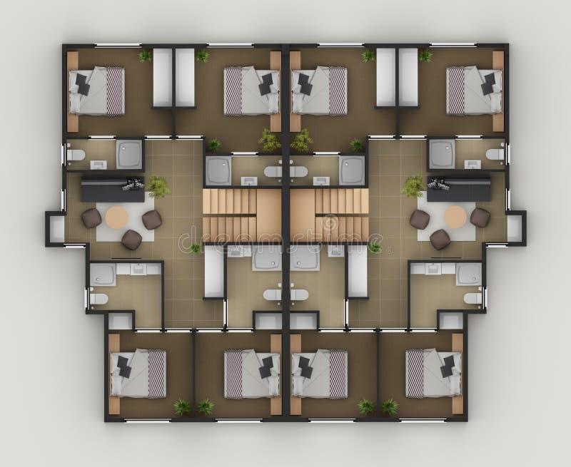 Plan d'étage illustration libre de droits