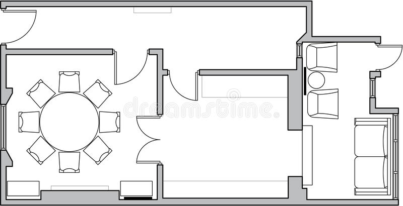 Plan d'étage d'architecture illustration stock