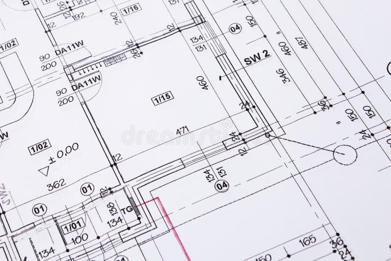 Plan d'étage de construction. photo libre de droits