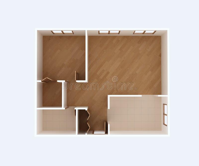 Plan d'étage vide de maison illustration stock