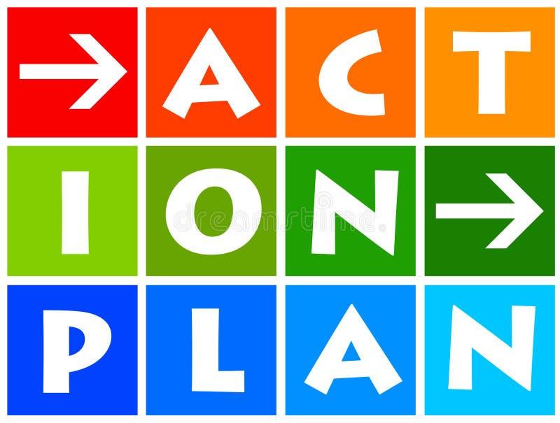 Plan d'action illustration libre de droits