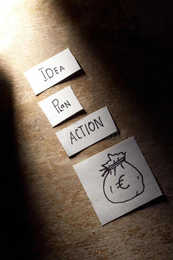 Plan d'action image stock