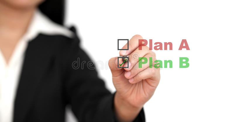 Plan d'action B images stock