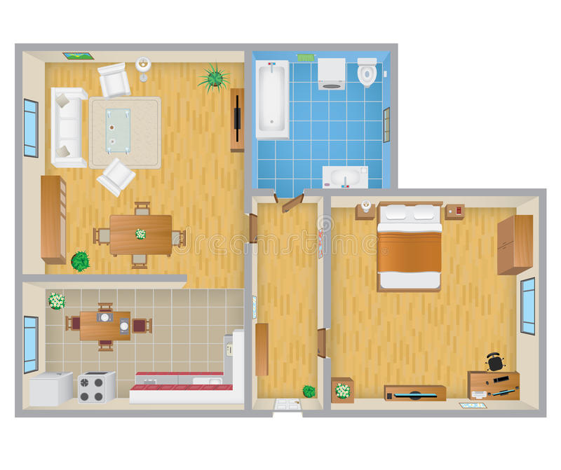 Plan d'appartement illustration de vecteur