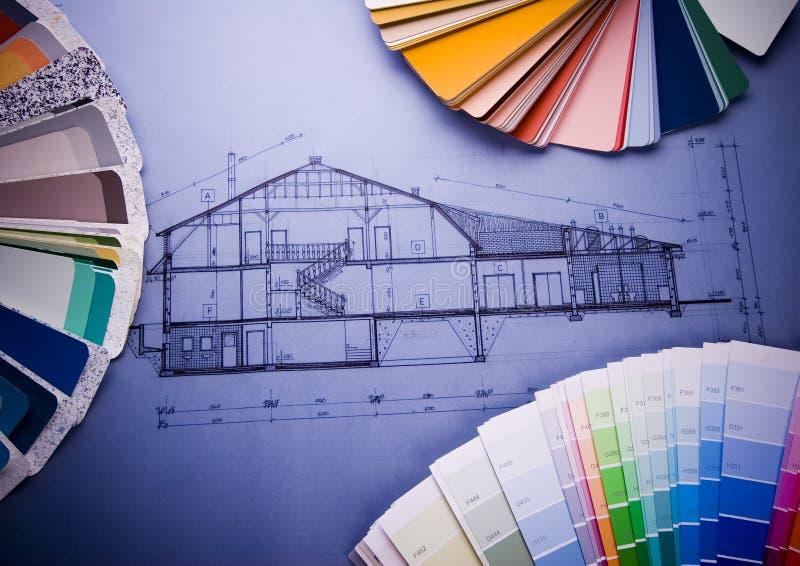 Plan d'architecture       photographie stock libre de droits