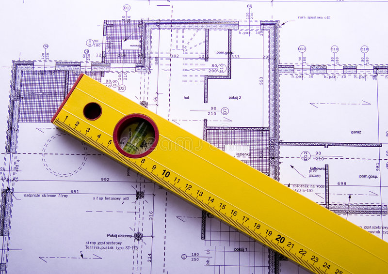 Plan d'architecture photos libres de droits