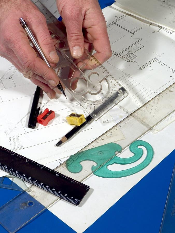 Plan d'architecture images stock