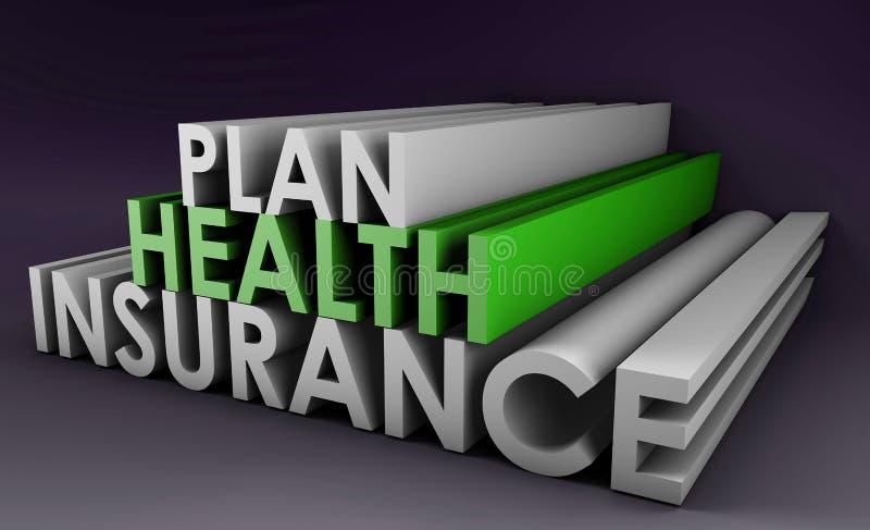 Plan d'assurance médicale maladie illustration stock