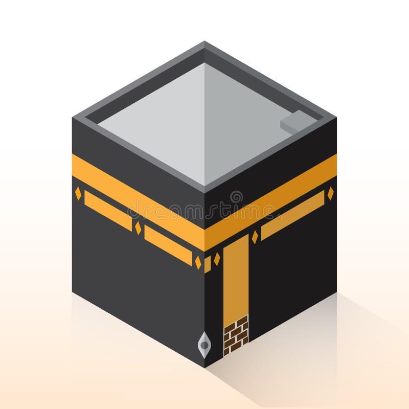 Plan 3D design Kaaba, isometrisk Mecka - vektorillustration
