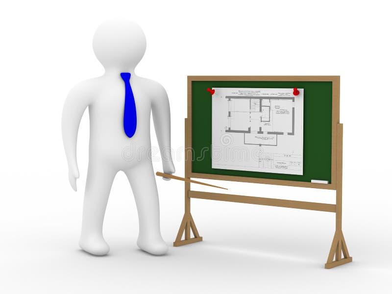 plan d'ingénieur de panneau illustration stock