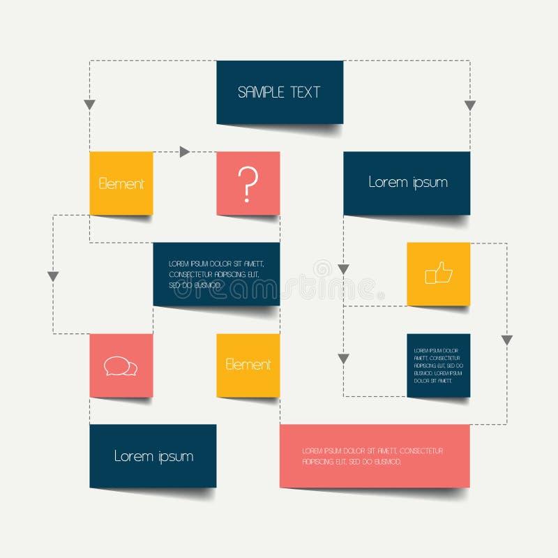 Plan d'organigramme illustration libre de droits