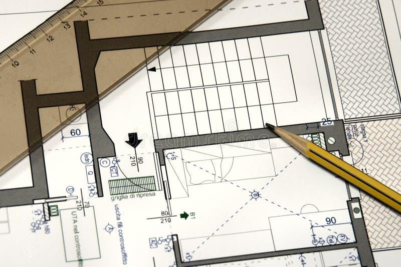 Plan d'une maison neuve photo stock. Image du résidentiel - 868046
