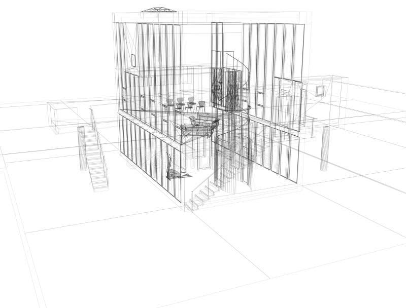 Plan de Architect´s - modelo ilustración del vector