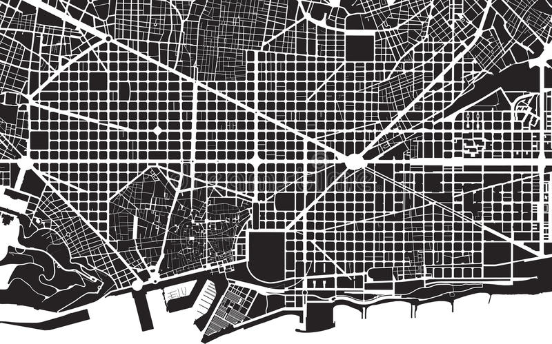 Plan de Barcelone illustration stock