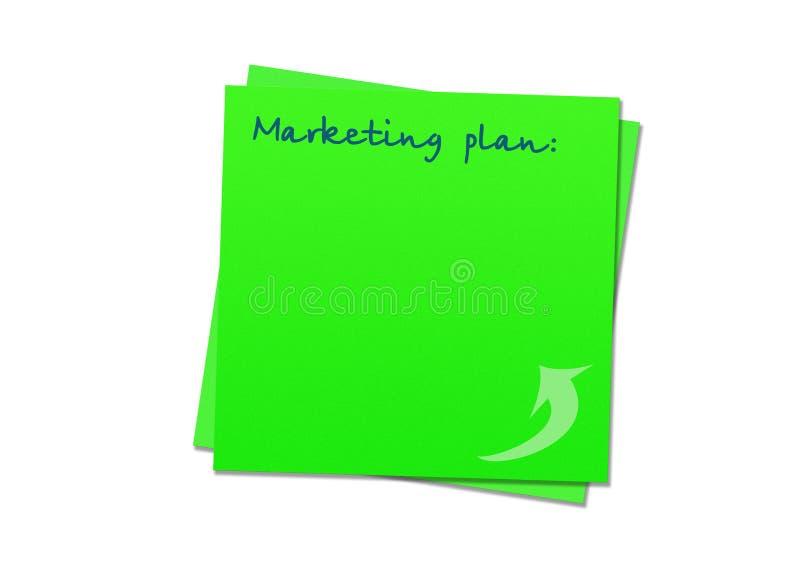 Plan de comercialización pegajoso de la nota ilustración del vector