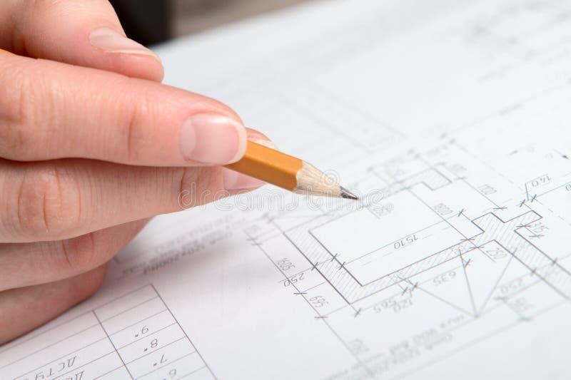 Plan de construction images stock