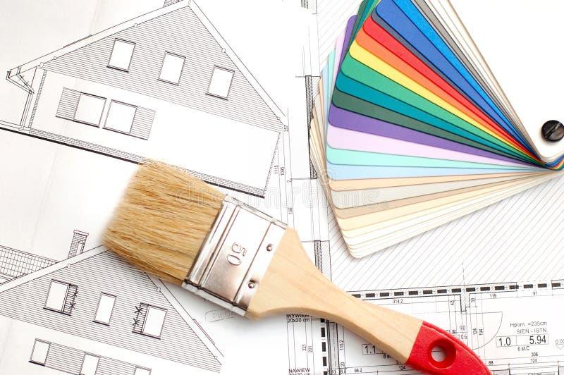 Plan de construction de logements photos libres de droits