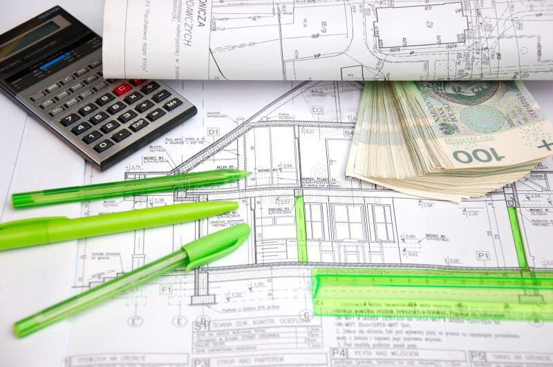 Plan de construction de logements photo stock