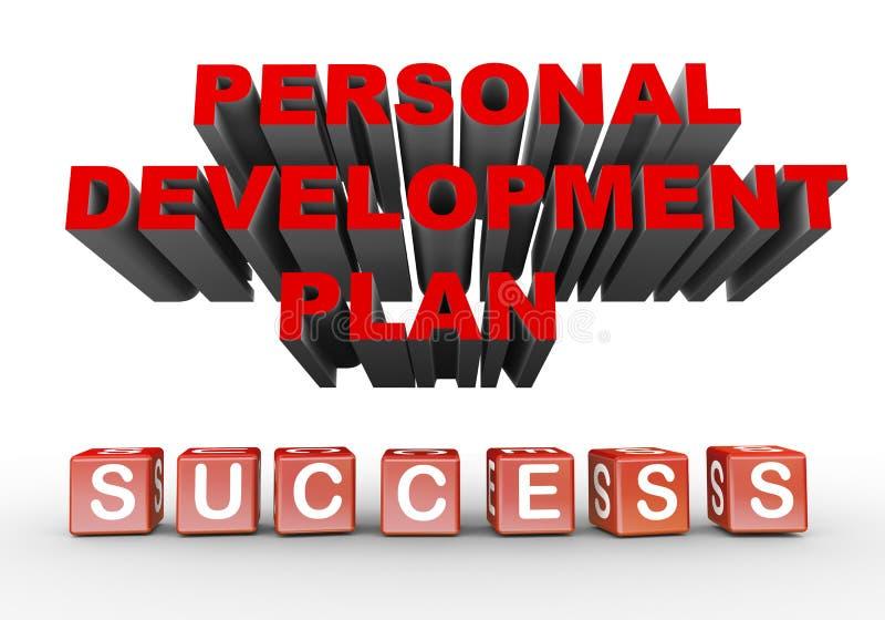plan de desarrollo personal 3d ilustración del vector