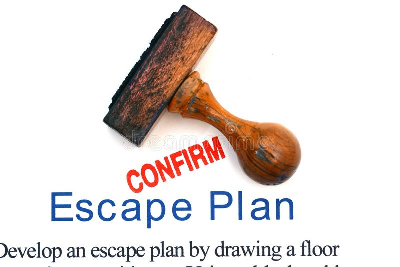 Plan de escape foto de archivo libre de regalías