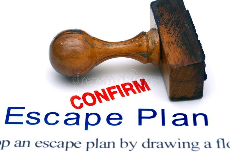 Plan de escape fotografía de archivo libre de regalías