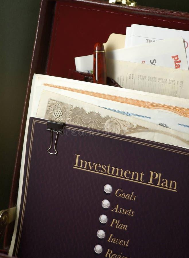 Plan de inversión fotografía de archivo libre de regalías