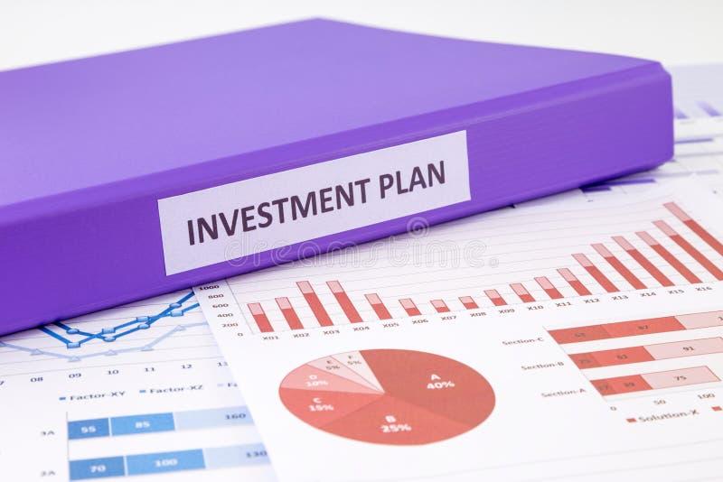 Plan de inversión y análisis financiero del gráfico fotos de archivo