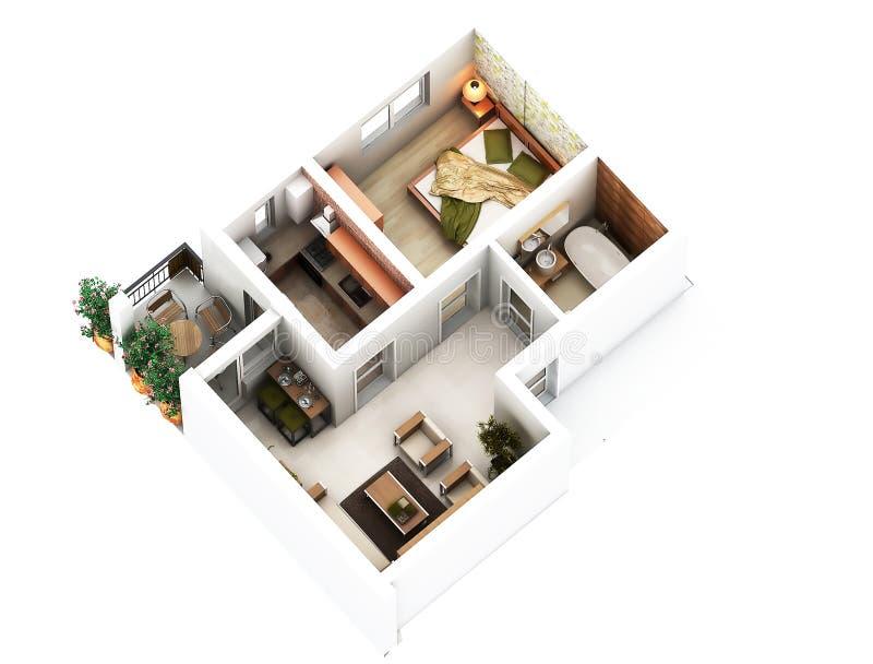 plan de l'étage 3d illustration de vecteur